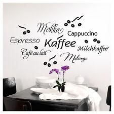Wandtattoo Wandsticker Wandaufkleber Küche Kaffee Cappuccino Espresso 1075W