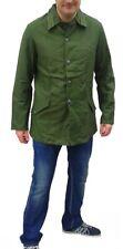 1960s vintage Swedish Army green denim jacket military coat combat field work
