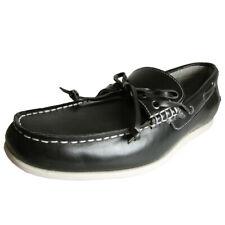 Steve Madden Mens M-Graham Leather Slip On Boat Shoe