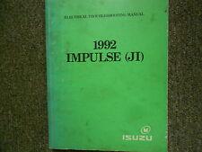 1992 ISUZU IMPULSE (JI) Electrical Troubleshooting Shop Manual OEM BOOK 92