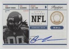 2012 Playoff Prestige NFL Passport Signatures Autographed #28 Robert Turbin Auto