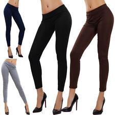 Leggings donna pantaloni fuseaux felpati pesanti caldi invernali basic AL-822