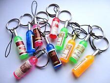Mini Wine Bottle Keyring - Choice of Colours