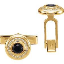 Cufflinks Onyx and Diamond 14k Gold