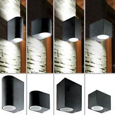 LED Wand Lampe UP DOWN Haus Strahler ALU Garten Spot Außen Leuchte schwarz IP44
