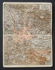 Antica Stampa Topografica.DINTORNI FIRENZE.FIESOLE1912.