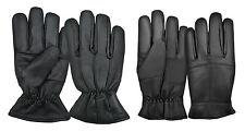 Luxus Winter Warm Thermo Fleece Vollständig Gefüttert Leder Handschuhe Umkleide