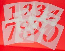 Zahlenschablone 7cm hoch Wandschablone Tupfschablone einzelne Ziffern  Zahlen