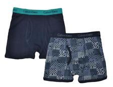 Calvin Klein Boys Navy & Teal 2 Pack Boxer Briefs Size 4/5 6/7 8/10 12/14 16/18