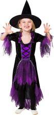 Orl - Kinder Kostüm Hexe Kleid Hexenhut Karneval Halloween
