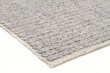 NEW SITARI 361 SILVER GREY WOOL FLATWEAVE RUG Cream 3 sizes Modern Floor Mat