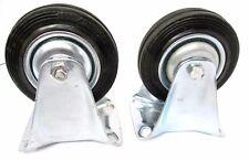 Rubber Castor Caster Wheels Fixed Swivel Brake 4 Inch 100mm RM008 RM009 RM010