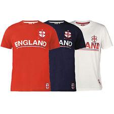 Mens England Football T Shirt D555 Duke Big King Size Leon Short Sleeved Summer