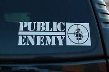 "Public Enemy Sticker Vinyl Decal Hip Hop Rap Car Window Choose 8"" To 16"" (V439)"