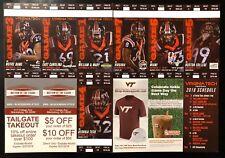 2018 Virginia Tech Hokies Football Collectible Ticket Stub - Any Home Game