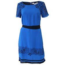 EX PER UNA - BLUE/BLACK BRODERIE DETAILED DRESS SIZES 8 - 22