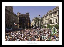 Celtic FC Fans in Seville  - 2003 UEFA Cup Final Photo Memorabilia (698)
