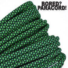 Neon Green Diamonds - 550 Paracord Rope 7 strand Parachute Cord 10 25 50 100 ft