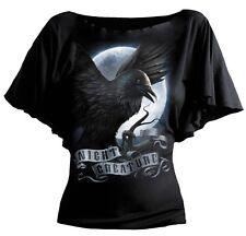SPIRAL DIRECT NIGHT CREATURE BoatNeck Viscose,Ladies/Girls/Goth/Skull/Gothic/Top