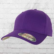 Flexfit Blanko Cap purple Mütze Kappe Schirmmütze Schildmütze Haube lila Haube