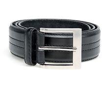 New Men's Big King Size Black Leather Four Stitch Belt Sizes 44 - 64