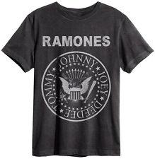 Amplified - Ramones Seal Classic Logo Herren T-Shirt (Grau) (S-XL)