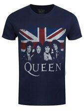Queen Vintage Union Jack Men's Navy T-shirt