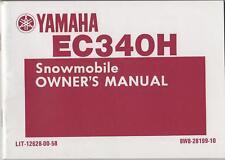 1984 YAMAHA EC340H SNOWMOBILE OWNERS MANUAL NEW
