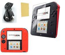 Pack 3 en 1 Nintendo 2DS : Housse silicone  - Chargeur USB - Protection écran