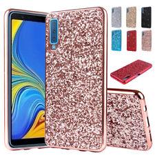 For Galaxy A9 A7 A8 A6 J8 J4 J6 Plus S9+ S8 S7 Bling Glitter TPU Back Cover Case