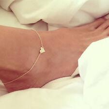 Peach Anklet Bracelet Barefoot Sandals Jewelry Foot Leg Chain