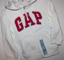 baby Gap NWT Girls Ivory Arch Logo Zipper Hoodie Jacket