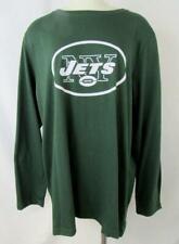 New York Jets Womens Plus Size 1X - 4X Long Sleeve Screened Logo Tee AJET 199