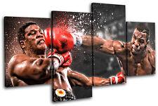 Boxing Mike Tyson Sports MULTI CANVAS WALL ART Picture Print VA