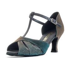 "Ladies Sparkly Social Ballroom Dance Shoes Social 2.5"" Heel RUBY By Topline Katz"