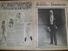 SOLEIL DU DIMANCHE 1899 N 9  M. FELIX FAURE