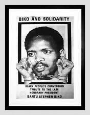 POLITICAL STEVE BIKO ANC APARTHEID SOUTH AFRICA FRAMED ART PRINT MOUNT B12X4583