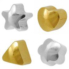 STUDEX PLUS Ear Piercing Plain assortiti forma Orecchini a Perno Oro Placcato o acciaio