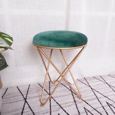 Modern Colourful Velvet Cushion Mini Gold Frame Triangle Stainding Stool Chairs
