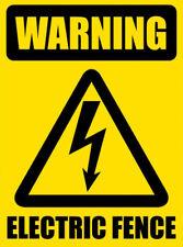 Cerca Eléctrica De Advertencia Adhesivo Autoadhesivo