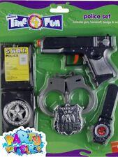 Child Police Set With Gun Cop Boys Girls Book Week Day Fancy Dress Accessory Kit
