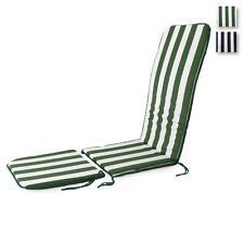 Cuscino per sedia a sdraio da giardino con prolunga Righe mod. Topazio P502