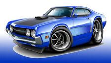 1970 1971 Ford Torino Muscle Car Art Print NEW