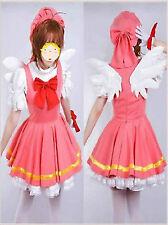 NEW Cardcaptor Sakura Angel Dress Uniform Made Cosplay Costume
