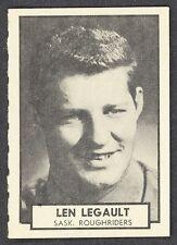 1962 TOPPS CFL FOOTBALL 127 LEN LEGAULT SASKATCHEWAN ROUGHRIDERS NM