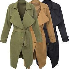 Damen Trenchcoat Mantel Damen Blogger Übergangs Jacke Damenjacke D-302 S-L
