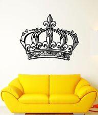 Wall Decal Crown King Power Kingdom Emperor Sceptre Mural Vinyl Decal (ed325)