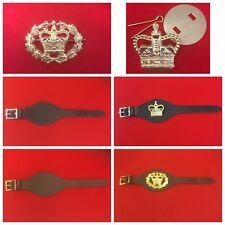Military Army Black & Brown Leather Wrist Strap Army Rank Wrist Strap WO2 Sgt