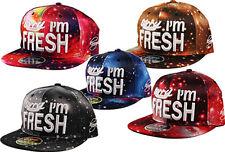 Men's Snapback Baseball Cap SORRY I'M FRESH Abstract Space Snap Back Hat