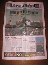 GAZZETTA DELLO SPORT  MILAN CAMPIONE D'ITALIA 2004 #
